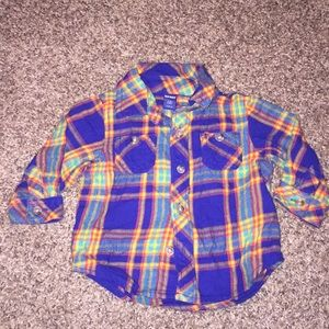 Old Navy Multi colored plaid button up long sleeve
